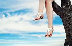 Ноги девушки Стоковое Изображение
