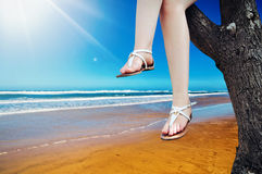 Ноги девушки Стоковое фото RF