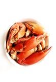 ноги еды тарелки рака Стоковое Фото