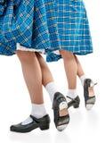 Ноги женщины в ботинках для танца Scottish Стоковые Изображения
