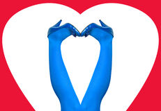 Ноги женщины в сини Стоковые Изображения