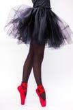 Ноги закрывают вверх балерины Стоковое Фото