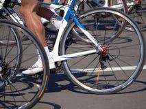ноги колес гонщиков Стоковое фото RF