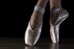 Ноги конца-вверх балерины Стоковые Изображения
