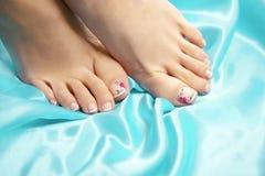 Ноги курорта, массажа ноги ног в курорте Забота ног женщины Стоковая Фотография
