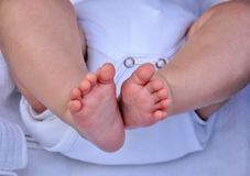 Ноги Baby Стоковые Фотографии RF