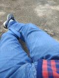 Ноги на взгляде стоковые фотографии rf