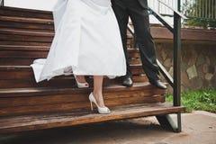 Ноги на лестнице 1671 Стоковое Изображение RF