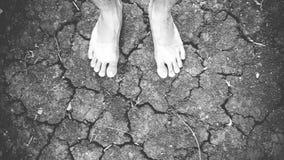 Ноги на отказе почвы Стоковая Фотография