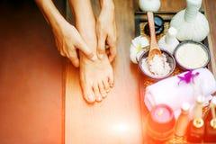 ноги обработки спы Стоковая Фотография