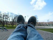 ноги отбрасывать Стоковое Фото