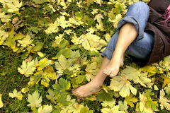 ноги отдыхать Стоковая Фотография