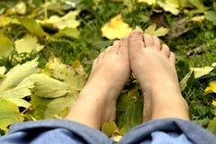 ноги отдыхать Стоковое фото RF