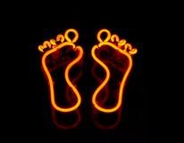 ноги пар неона Стоковые Фотографии RF
