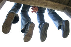 ноги пар Стоковое Изображение