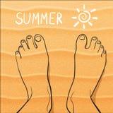 ноги песка Стоковые Фото