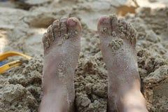 ноги песка Стоковые Изображения RF