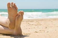 ноги песочные Стоковая Фотография RF
