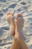 ноги песочные Стоковые Фото