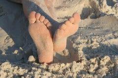 ноги песочные Стоковая Фотография