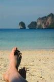 ноги песочные Стоковые Изображения RF
