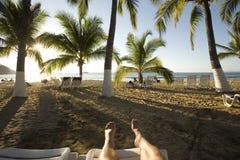 ноги пляжа вверх Стоковое фото RF