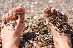 ноги пляжа Стоковая Фотография RF