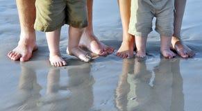ноги пляжа Стоковая Фотография