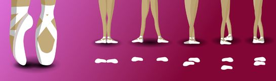 Ноги позиций в балете иллюстрация штока