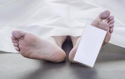 Ноги покойного человека Стоковое Изображение