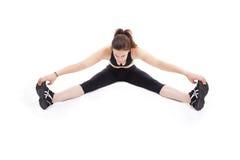 ноги пола протягивая женщину Стоковые Изображения RF