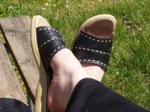 ноги положили вверх ваше Стоковая Фотография RF
