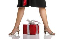 ноги подарков Стоковые Изображения
