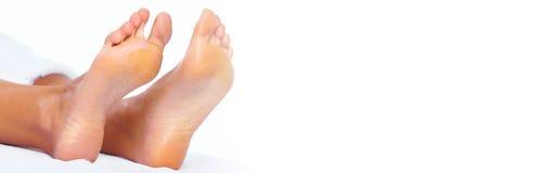 ноги предпосылки изолированные над белой женщиной стоковые изображения