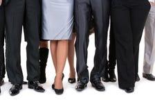 ноги предпринимателей много Стоковые Изображения RF