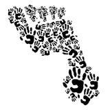 ноги сделанных рук Стоковое Фото