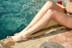 ноги сексуальные намочили Стоковое фото RF
