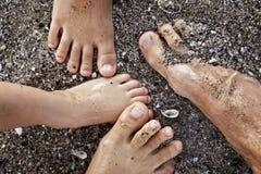 ноги семьи Стоковая Фотография RF
