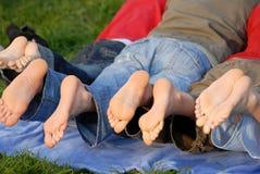 ноги семьи Стоковое Изображение