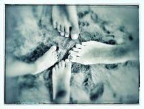 Ноги семьи Стоковые Фотографии RF