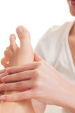 ноги спы массажа Стоковое Фото