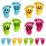 ноги счастливого smiley Стоковые Фотографии RF