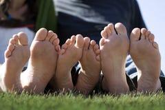 ноги счастливые Стоковая Фотография