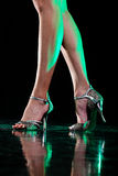 Ноги танцев. стоковое изображение