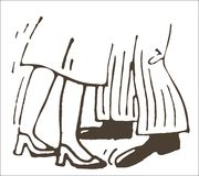 Ноги танцоров иллюстрация вектора