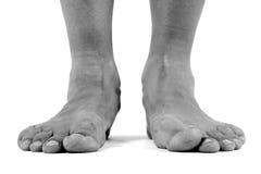 ноги упаденные сводами плоские Стоковое фото RF