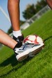 ноги футбола Стоковое фото RF