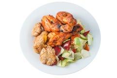 Ноги цыпленка Tandoori с салатом Стоковое фото RF
