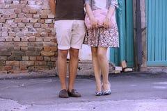 Ноги человека и женщины Стоковое Изображение RF