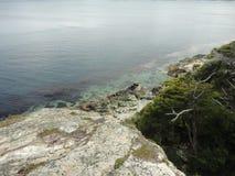 ноги шага фокуса свободного полета ребенка выпрямляют тапочки моря Стоковые Фото